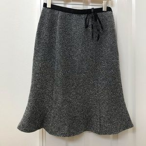 Black and white Pencil skirt with flare